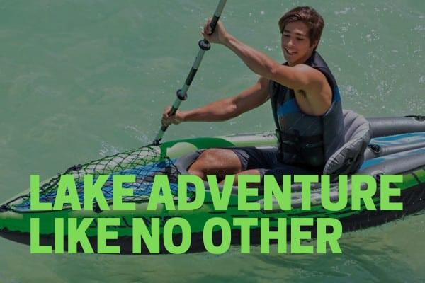 intex challenger k1 kayak used for kayaking